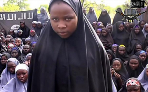 Boko Haram released a video showing the kidnapped girls, saying they would be released when imprisoned militants were (courtesy of The Telegraph)